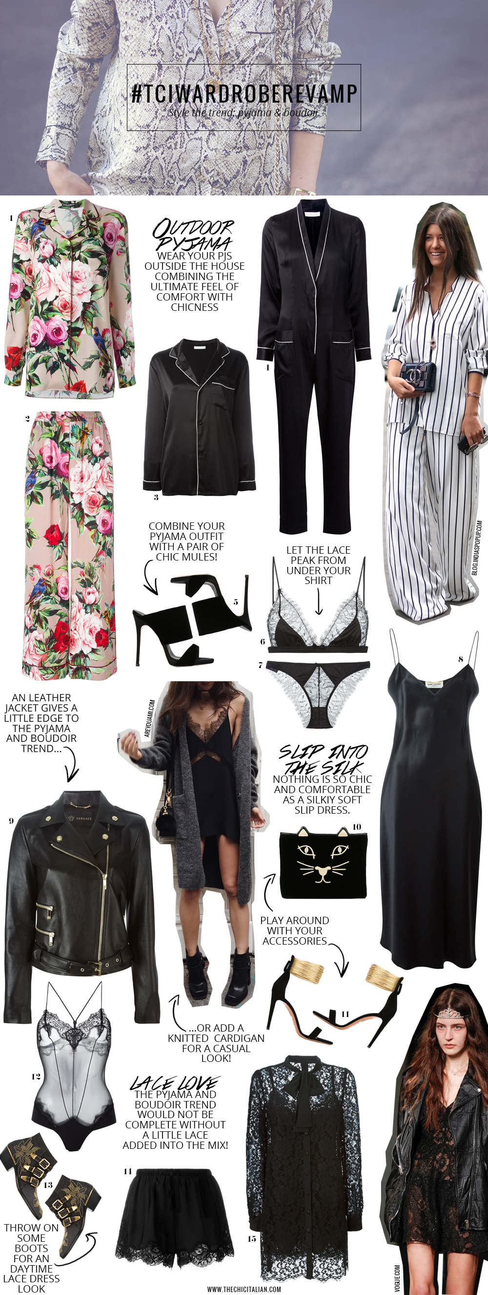 STYLE THE TREND | THECHICITALIAN | How I would style the pyjama and boudoir trend for Spring/Summer 2016