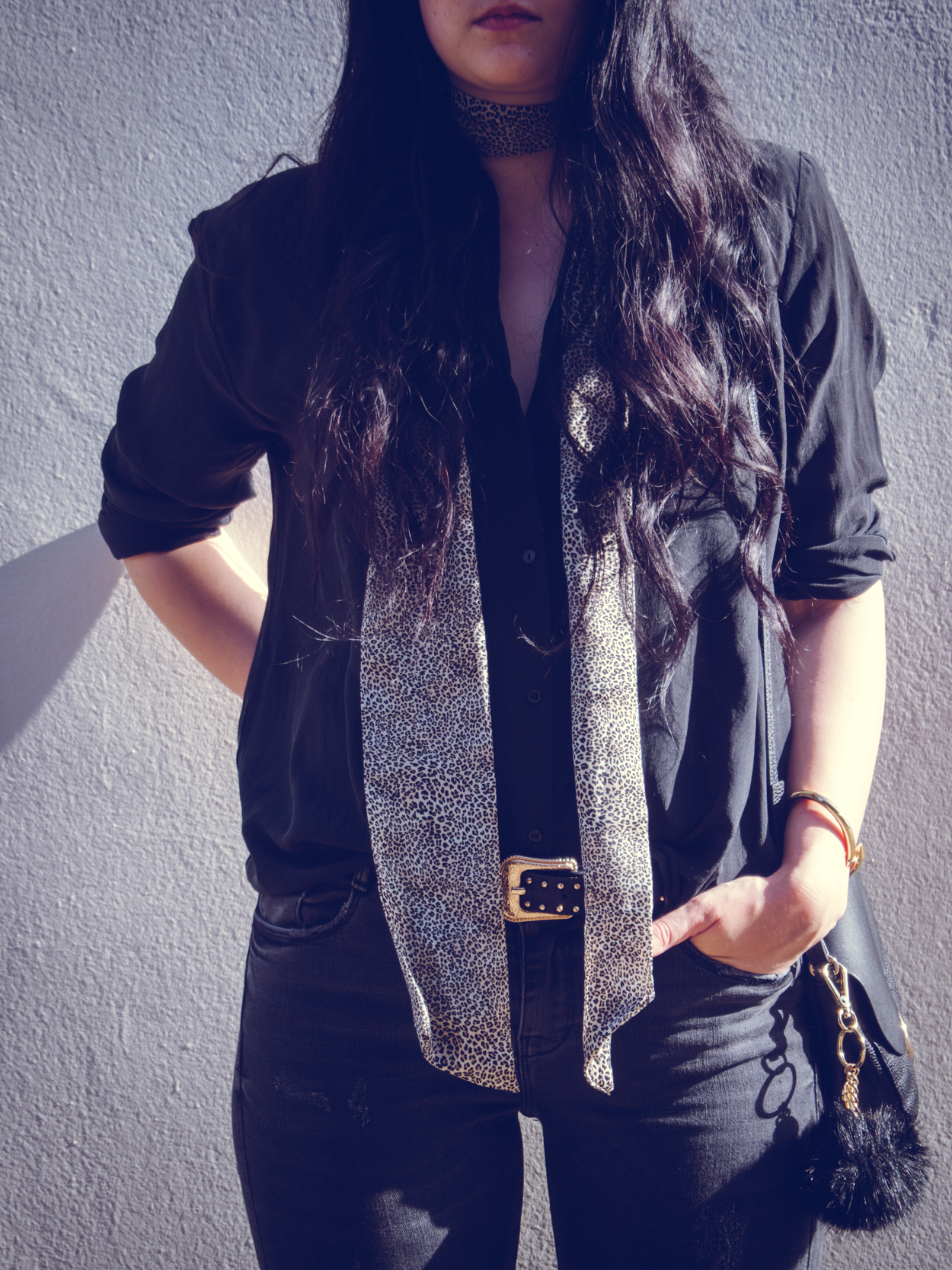 LEOPARD SKINNY SCARF || THECHICITALIAN || Outfit with one of my favorite trends: the skinny scarf