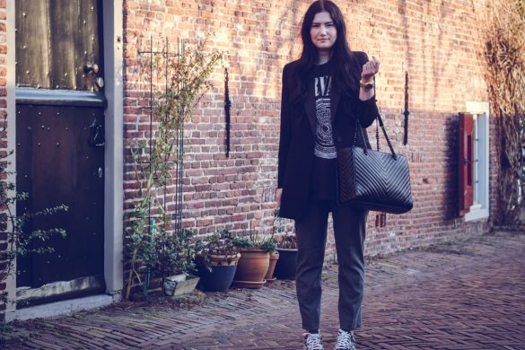 H&M PULL-ON TROUSERS || THECHICITALIAN || Combining my workwear look with my personal style