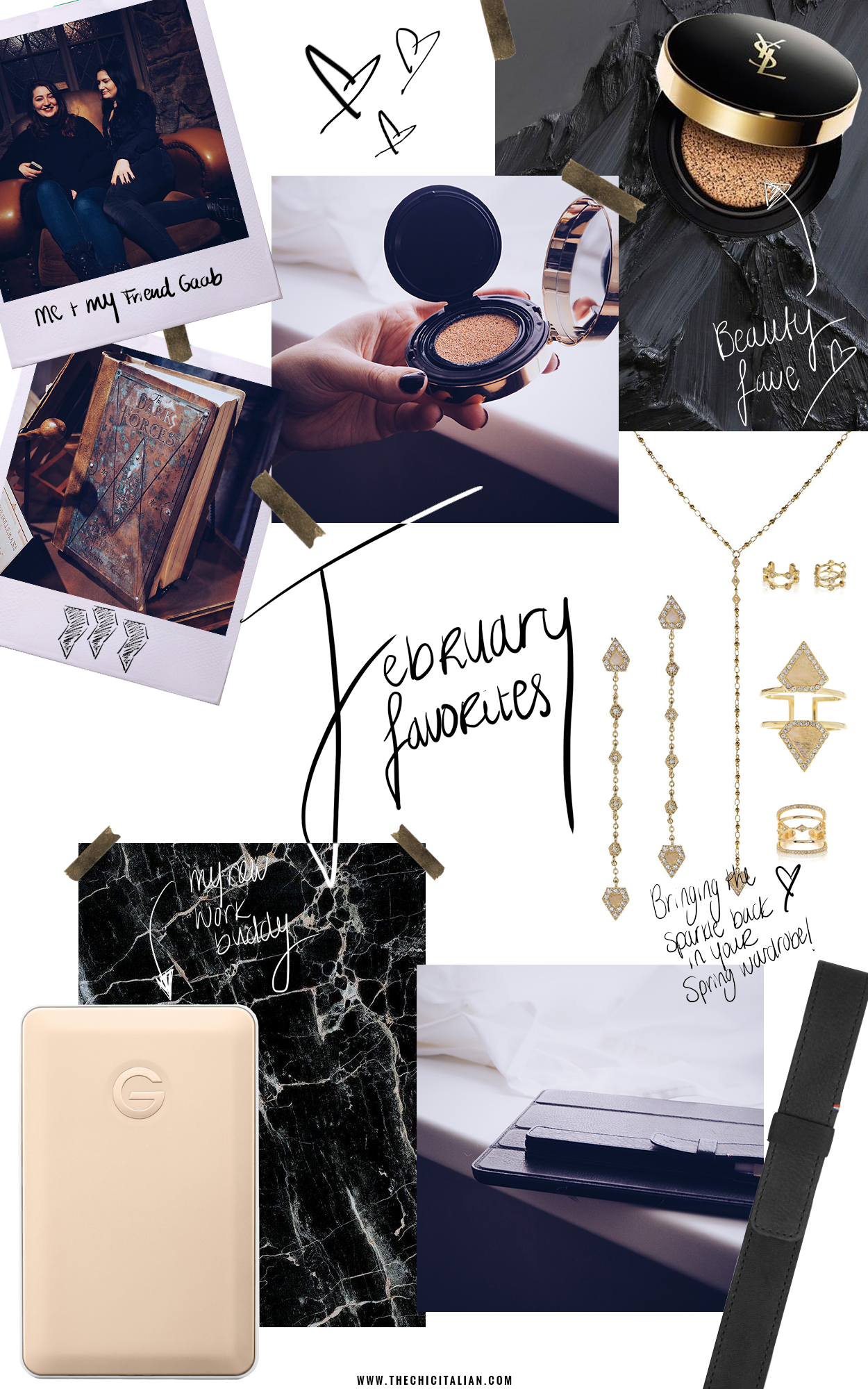 FEBRUARY FAVORITES || THECHICITALIAN || My monthly favorites with the new Spring collection from Luv Aj, Harry Potter: The Exhibition, Yves Saint Laurent cushion foundation and more!