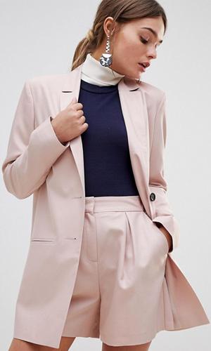 ASOS DESIGN tailored long jacquard blazer | ASOS