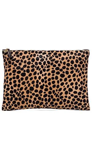 Clare V. Oversized Leopard clutch | REVOLVE