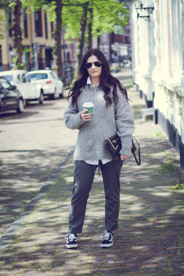 4 WORK WARDROBE OUTFITS   THECHICITALIAN   The sweater and blouse pairing is a classic work outfit