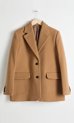 Wool Oversized Blazer in camel | & Other Stories
