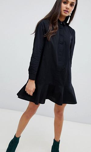 ASOS DESIGN Peplum Mini Shirt Dress | ASOS