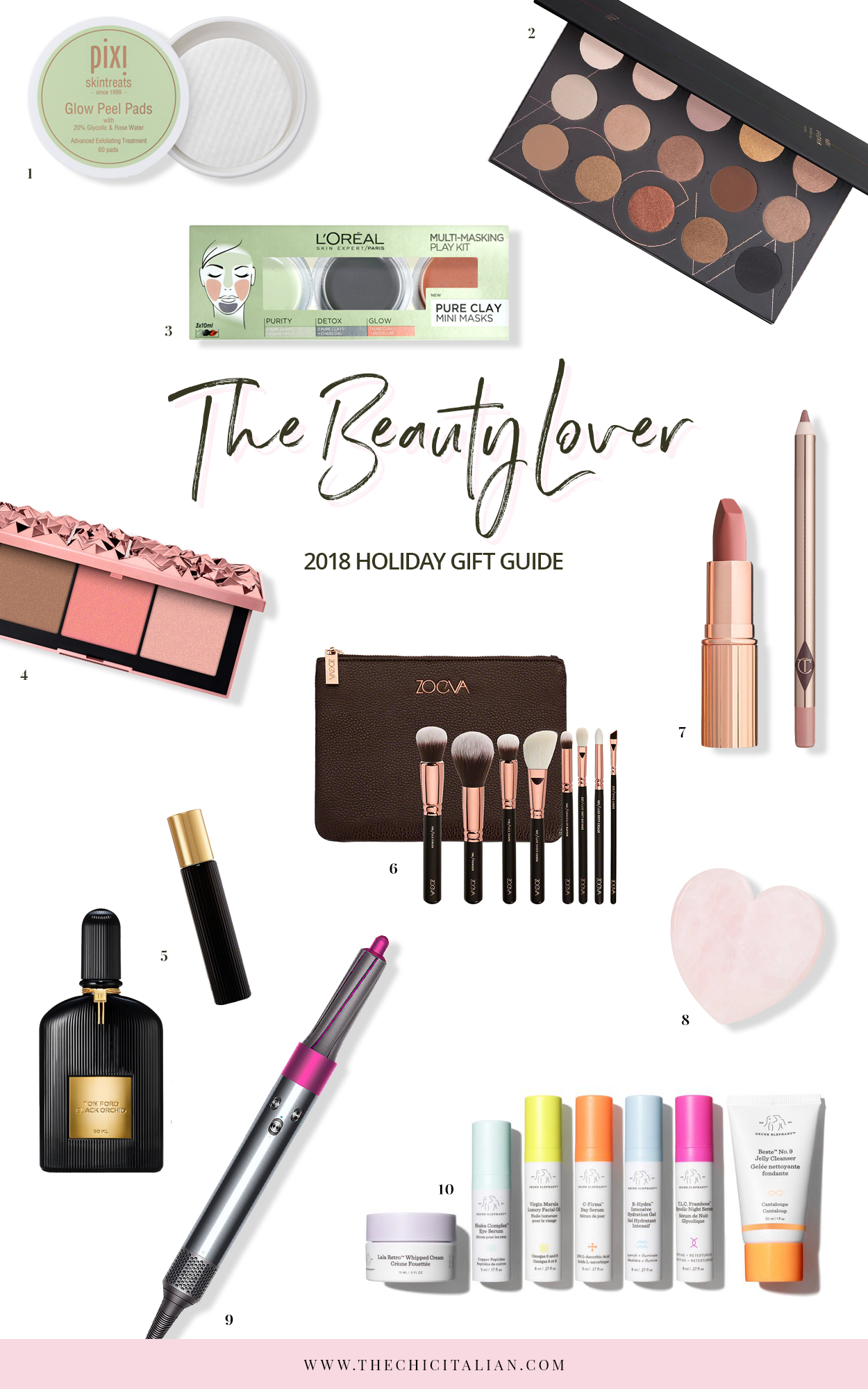 HOLIDAY GIFT GUIDE 2018 | THECHICITALIAN | The Christmas gift guide with the perfect presents for the women in your life