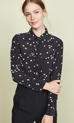Equipment Slim Signature Star Silk Blouse | Shopbop.com