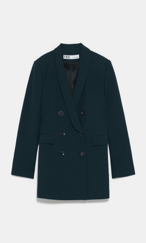 Dark green blazer suit | ZARA