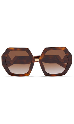 VALENTINO HEXAGON FRAME SUNGLASSES | NET-A-PORTER