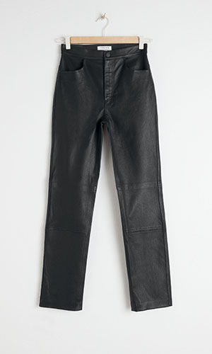 High waisted leather trousers | & Other Stories