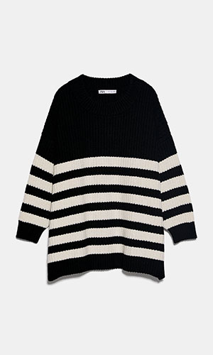 Oversized striped sweater | ZARA